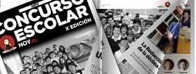 Papel digital de la gala de entrega de premios del concurso Escolar 2013